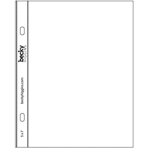 Becky Higgins 380019 Project Life Page Protector-5 x 7-Vertical (12 Pieces) Photo #2