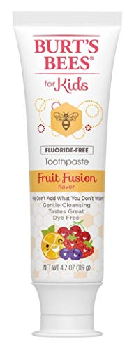 Burts Bees Toothpaste Kids Fruit Fusion 4.2 Ounce No Flouride (2 Pack)