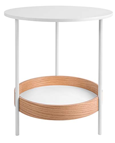 Present Time - Table d'appoint Bois Blanche Dual