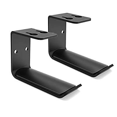 Headphone Hanger Mount×2, 6amLifestyle Aluminium Headphone Holder Under Desk Headset Mount Hook with Strong Adhesive Tape & Screws, for Beats Sony Sennheiser Philips Bose JVC (Black) from 6amLifestyle
