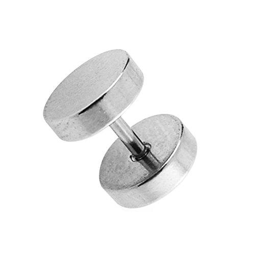 10MM flache runde Scheibe mit 16 Gauge 316L chirurgischer Stahl Fake Ohr Piercing Plug