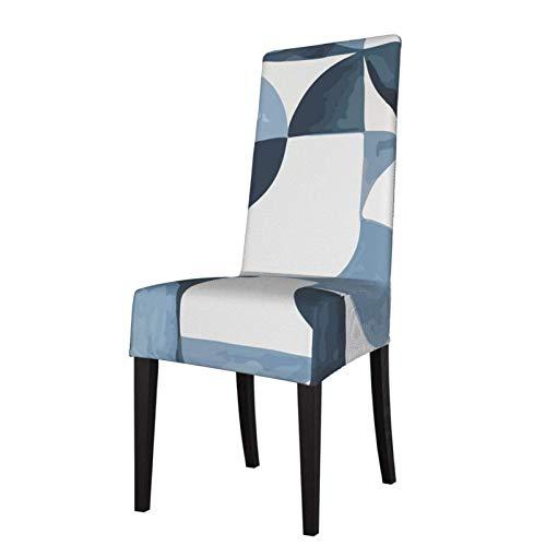 Fundas elásticas estampadas para sillas de comedor abstractas, color azul nórdico, de elastano, extraíbles, lavables, para cocina, fiesta, etc.