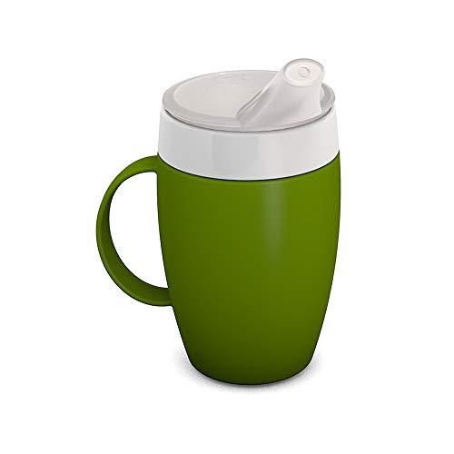 Ornamin Becher mit Trink-Trick, Thermofunktion und Schnabelaufsatz 140 ml grün (Modell 905 + 806) / Thermobecher, Spezial-Trinkhilfe, Schnabelbecher