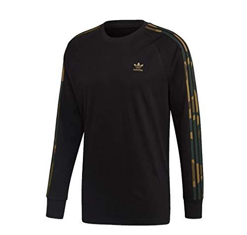 Adidas Camo Longsleeve Langarmshirt (L, Black/camo)