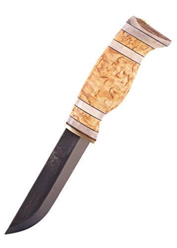 Finnenmesser - Wood-Jewel - 23TMR Jagdmesser mit Scheide aus Maserbirke - Messer
