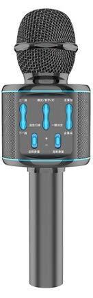 BlueFire Micrófono de karaoke inalámbrico Bluetooth con altavoz, micrófono portátil para adultos y niños, compatible con Android/iOS/PC (oro rosa)