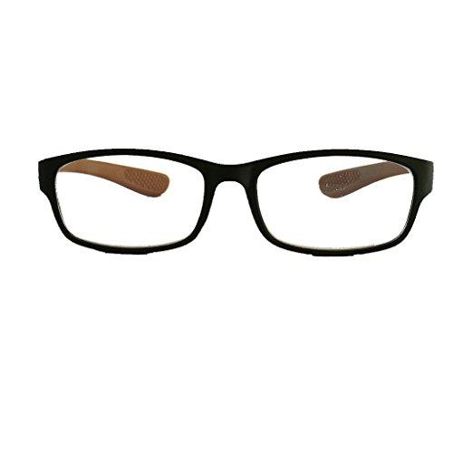 Sportieve lichte moderne leesbril verschillende zichtsterktes van +1,0 tot +3,0 2.5 bruin