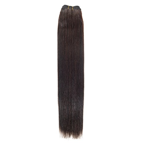 Euro soyeux tissage | Extensions de cheveux humains | 61 cm | Barely There Noir (1b) American Pride