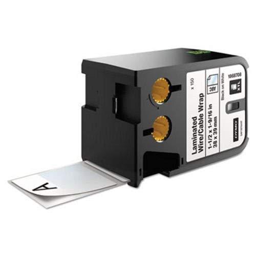 Etiquetas de tamaño predefinido XTL, 1 1/2' x 1 9/16', impresión blanco/negro, 150/cartucho