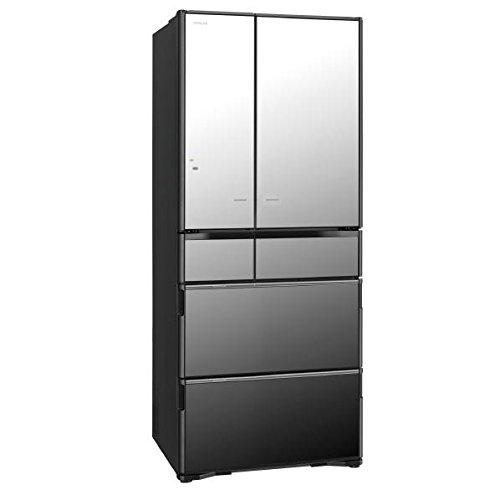 日立 620L 6ドアノンフロン冷蔵庫 真空チルド クリスタルミラー R-X6200F-X