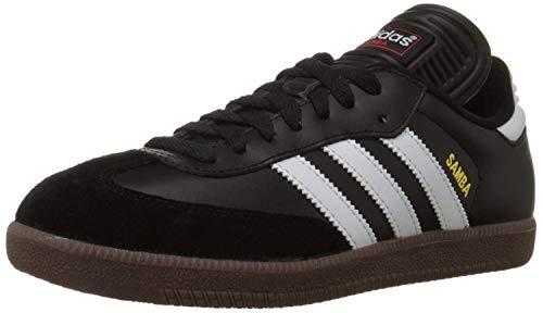 adidas Men's Samba Classic Soccer Shoe,Black/Running White,11.5 M US