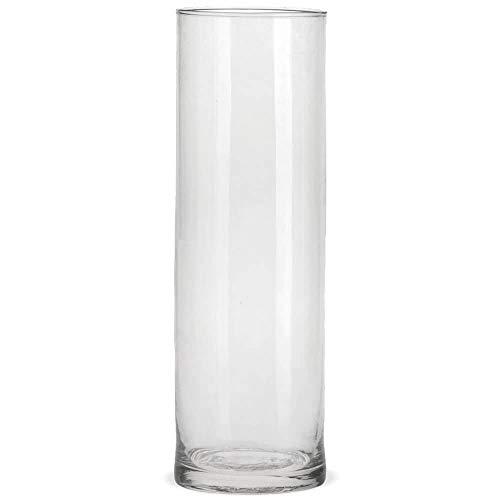 matches21 Glas Vase Glasvase Blumenvase Zylinder Dekovase Klarglas Dekoglas hoch rund 1 STK. Ø 10x30 cm - 3 Größen