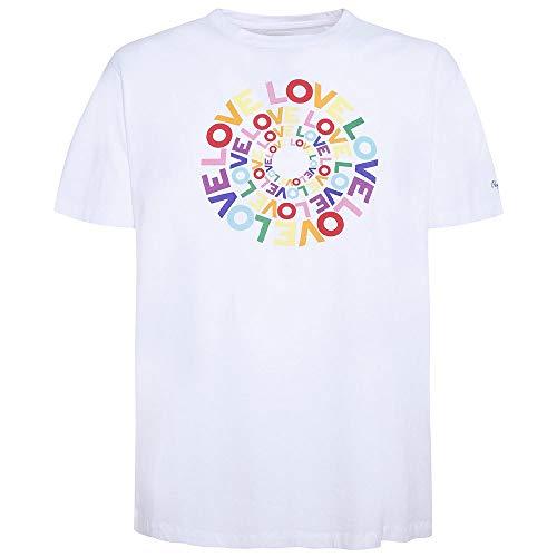 Pepe Jeans Johnson T-Shirt, Blanco (White 800), S para Hombre