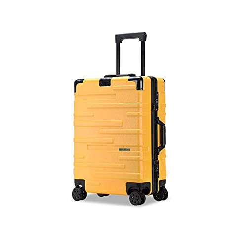 JIAWYJ Maleta portátil/Maleta de Equipaje con Conjuntos de Equipaje de Gran Capacidad Suitcases Carry-Ons Travel Carry On Hand 22inches / Código de Productos básicos: LWH-47 (Color : Yellow)