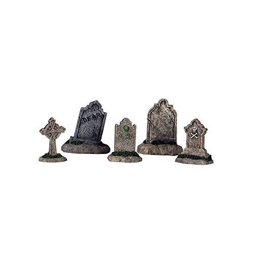 Lemax Halloween Spooky Town Set of 5 Tombstones  #44145