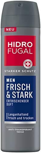 Hidrofugal Men Frisch & Stark Spray (150 ml), starker Anti-Transpirant Schutz mit erfrischendem Duft, Deo für Männer ohne Ethylalkohol