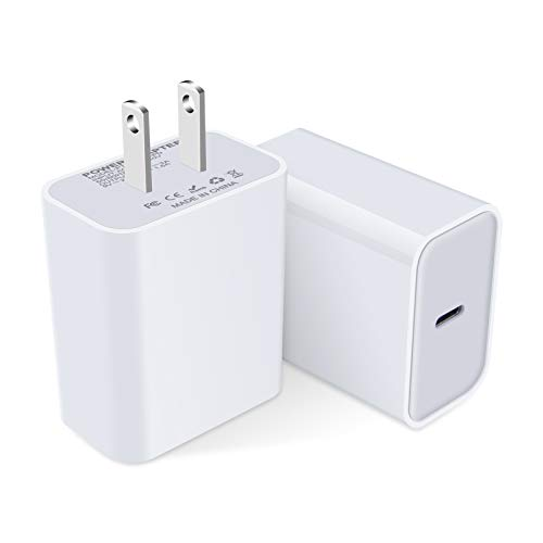 USB C Fast Charger,18W PD Wall Charger Power Adapter Type C Charging Block Compatible with iPhone 11 Pro Max/SE/X/XS/XR/8 Plus,iPad Pro,Pixel 5 4a 3a 2 XL 3XL 4XL,Samsung Galaxy S20 FE S10 A11 A51 A71