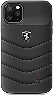 Ferrari FEOQUPCFCN65BK Off Track Full Cover Power Case 4000mAh for iPhone 11 Pro Max - Black
