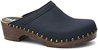 Swedish Low Heel Wooden Clog Mules for Women | Athens