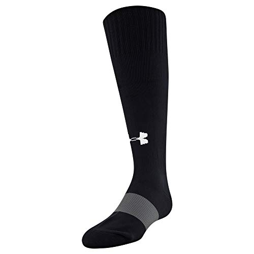Under Armour Youth Soccer Over-The-Calf Socks, 1-Pair, Black, Shoe Size: Youth 13.5K-4Y
