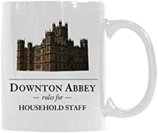 WECE Downton Abbey Rules for Household Staff Mug Coffee Mug - Gifts for Coffee Lover,Funny (White, 11 Oz)