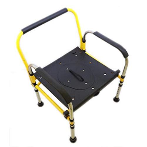Kommodenstuhl, Toilettenstuhl Bariatrischer Toilettensitz Höhenverstellbare Duschbank mit Armen/Rückenlehne Kommodenschaufel