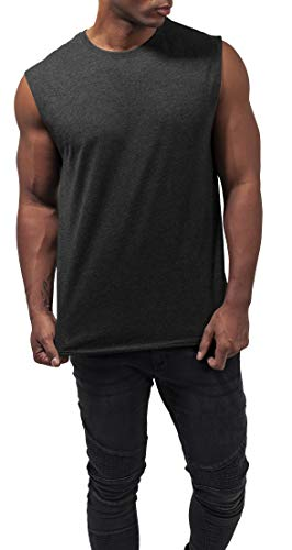 Urban Classics Herren Open Edge Sleeveless Tee T-Shirt, darkshadow, M