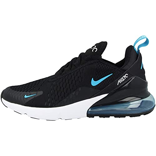 Nike Herren AIR MAX 270 Laufschuh, Black Lt Blue Fury Dk Smoke Grey White Lagoon Pulse, 42.5 EU
