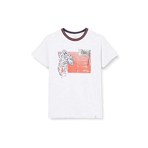 ESPRIT Kids RQ1040403 T-Shirt SS, Bianco (White 010), 8 Anni Bambino