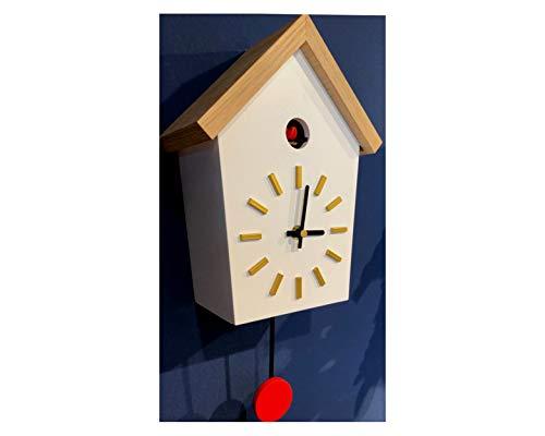 RELOJESDECO Reloj de Cuco Moderno, Reloj de Cuco Infantil, Reloj de Cuco sobremesa, percioso