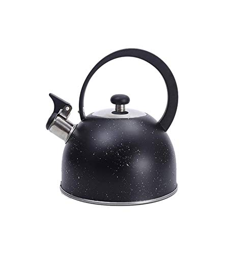 ZHENGYU Whistle Kettle 2.5 liters Portable Tea Set with Handle Outdoor Camp Home Kitchen Hotel Stainless Steel Coffee Picnic Kettle with Whistle