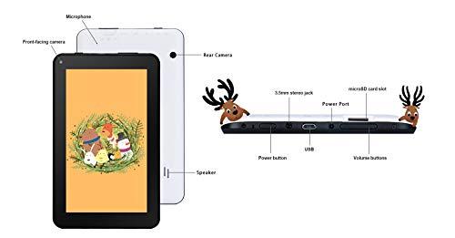 Haehne 7 Zoll Tablet PC - Google Android 6.0 Quad Core, Bildschirm 1024 x 600, 1GB RAM 16GB ROM, Dual Kameras 2.0MP + 0.3MP, 2800 mAh, WiFi, Bluetooth