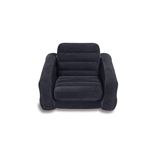 GQJQWE Sofá Cama Inflable Flocado Sofá Cama Inflable Cama Individual Sofá Plegable Solo sillón Inflable, Salón Grande Rojo del Ocio