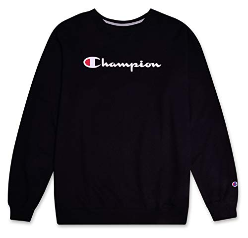 Champion Sweatshirt Mens Big and Tall Logo Sweater Crewneck Sweatshirt Black 2X