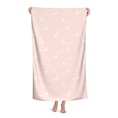 Big Pink Duck Cartoon Microfiber Bath Towels are Absorbent and Fluffy Soft and Skin-Friendly The Best Gift for Swimming Pool Beach Travel