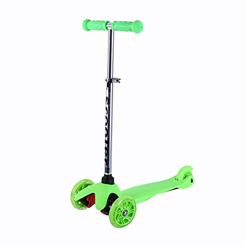 Best Bargain Home Gym Adjustable Height Handle Kick Scooters with Glider Wheels Wide Deck for Childr...