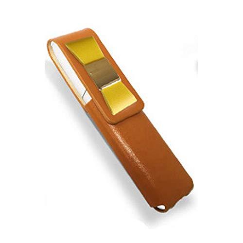 IQOS 3 MULTI 専用 アイコス3 リボン 本革 マルチ ケース (ライトブラウン/イエローリボン) iQOSケース シンプル 無地 保護 カバー 収納 カバー 全4色 電子たばこ 革