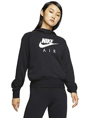 Nike Damen Air BB Sweatshirt, Black/White, S