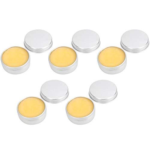 5PCS Cera de abejas para condimentos de madera Limpiador industrial y cera protectora para pulido de pisos de muebles Amarillo