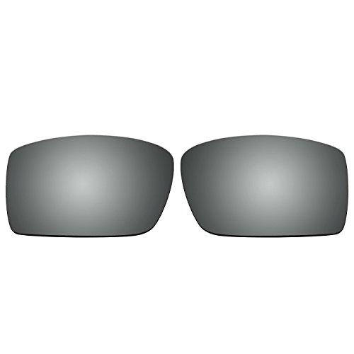 Lentes de repuesto para gafas de sol Oakley Gascan (no compatibles con las Gascan S), Titanium Mirror - Polarized, Small
