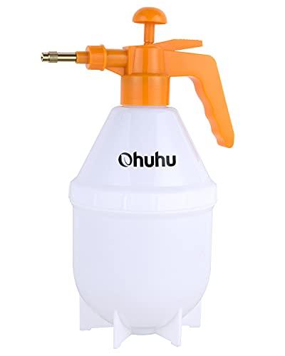 Ohuhu Pump Sprayer, 1.5L Hand Held Lawn & Garden Pressure Sprayer with Adjustable Brass Nozzle, Multi-Purpose Sprayer for Cleaning, Watering Plants, Shower/Water Column Mode Conversion