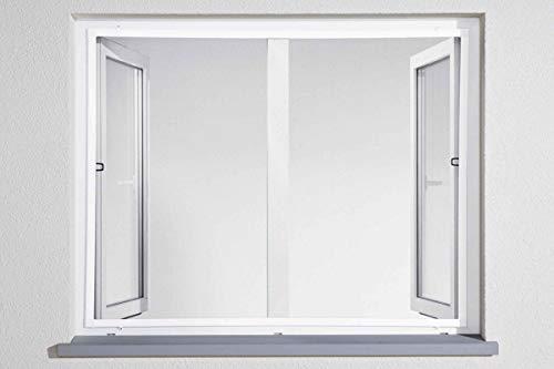 Powerfix Profi+ Alu Insektenschutz Fenster Fliegengitter SLIM 100 x120cm Weiß