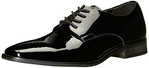 Calvin Klein Men's Ramses Oxford, Black Leather, 8 Medium US