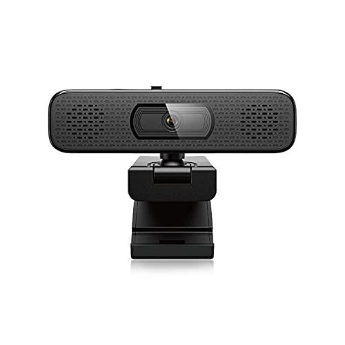 Bodhi2000 Cámara De Red De Alta Definición De 1080p, con Micrófono De Reducción De Ruido De Dos Altavoces, Cámara Web De Escritorio con Enfoque Automático