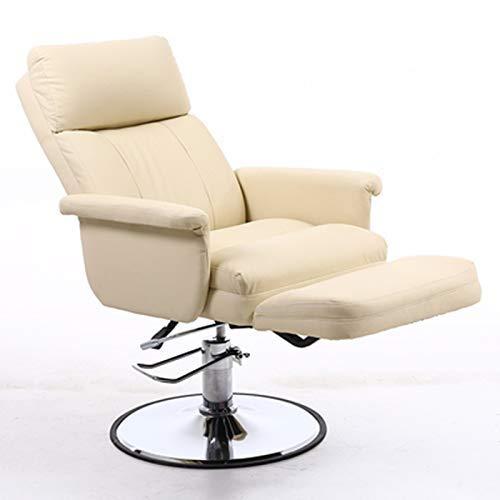 JIEER-C Ergonomische massagestoel Beauty Chair, draagbare massagestoel voor woonkamer, wieltjes, draaibaar, in hoogte verstelbaar E