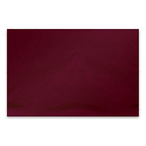 Nexos 2 Stück Seitenwände Seitenteile Ersatzwände ohne Fenster für Falt-Pavillon – 295 x 215 cm/PE 180 g/m² – hochwertig wasserabweisend – burgund