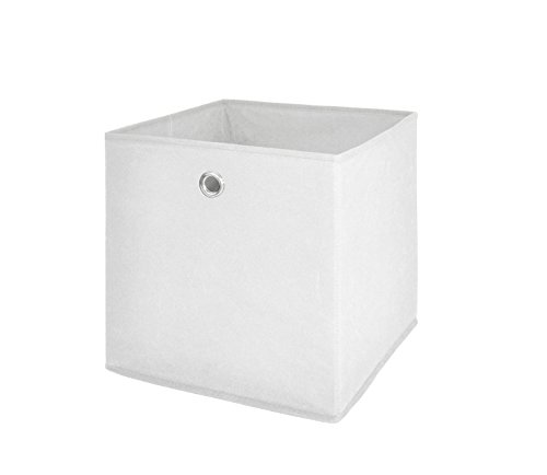 Möbel Akut Faltbox 4er Set in weiß, Aufbewahrungsbox für Raumteiler oder Regale