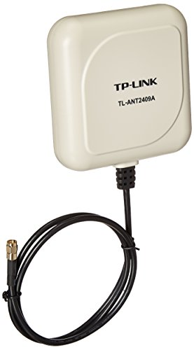 TP-Link 2.4GHz 9dBi Directional Antenna,802.11n/b/g, RP-SMA Male connector, 1m/3ft cable (TL-ANT2409A),White