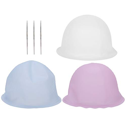 Bad Verwenden Sie 3 Stück professionelle Silikon Haarfärbemittel Hut, wiederverwendbare Salon Haarfarbe Highlighting Hut