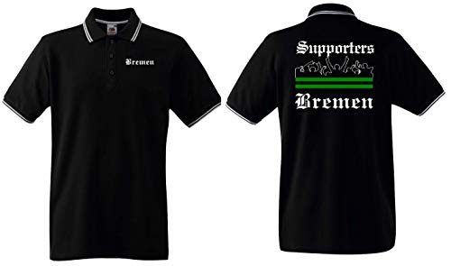 world-of-shirt / Bremen Herren Polo-Retro Supporters Ultras